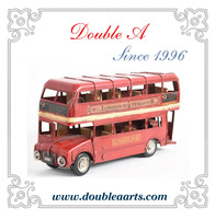 Wholesale car model classic london bus model metal car model handmade crafts