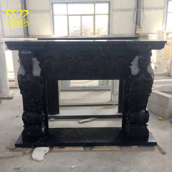 French Style Hand Carved White Marble Fireplace Surround