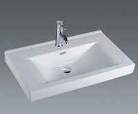 porcelain material rectangle bathroom sink and toilet unit