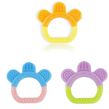New Products 2016 Durable Baby Teether Round Shape Pendant Teether