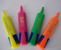 Classic highlighter pen brilliant color can print customer logo on the pen