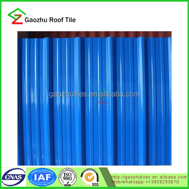 corrugated roofing 2.5mm pvc european style roof tiles