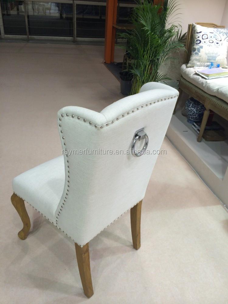 tissu tapisser la norv ge style en bois manger chaise avec anneau de fer chaises en bois id de. Black Bedroom Furniture Sets. Home Design Ideas