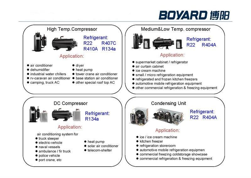 R134a Refrigerant 12v Dc Compressor For Sharp Portable Air