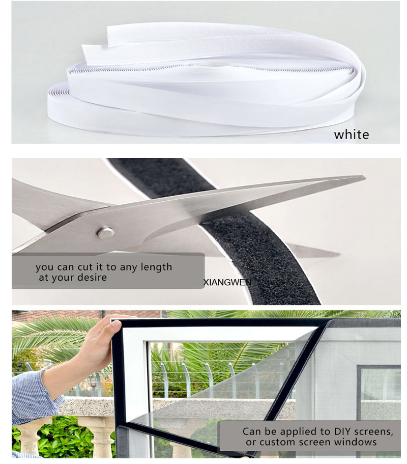 Professional grade high strength self adhesive sticky hook loop tape