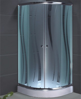 frosted shower enclosure glass with pattern