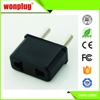 Top selling factory low price universal 6a 250v USA to Korea plug adapter