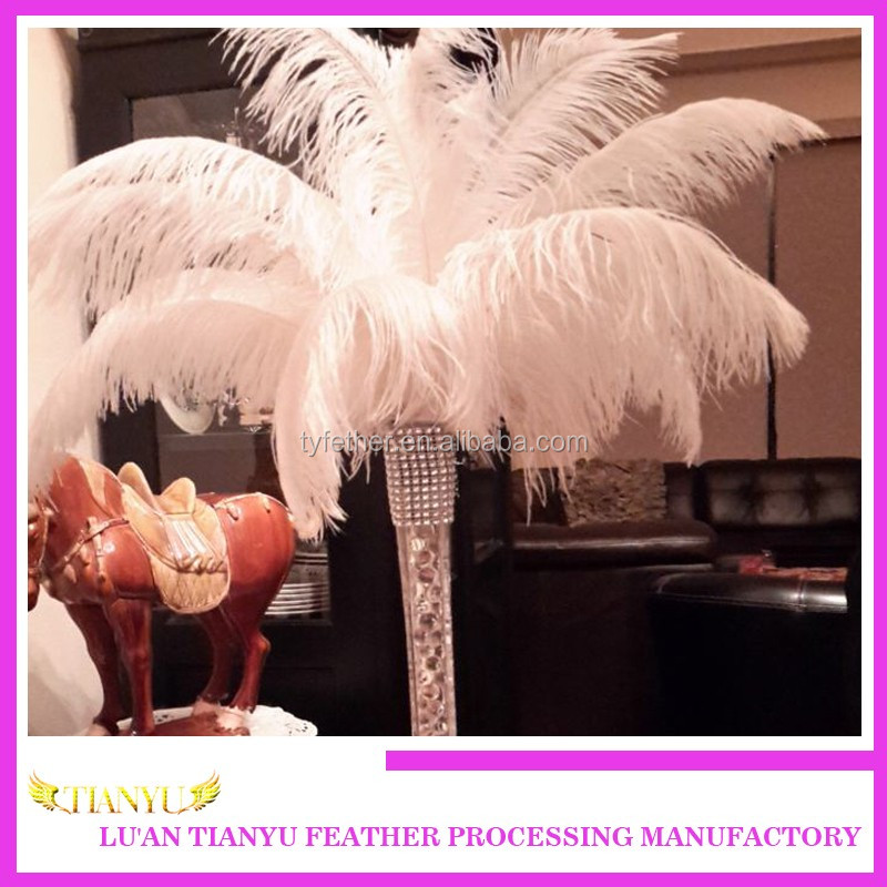 White 20-70cm Ostrich Feather For Wedding Centerpieces Decoration