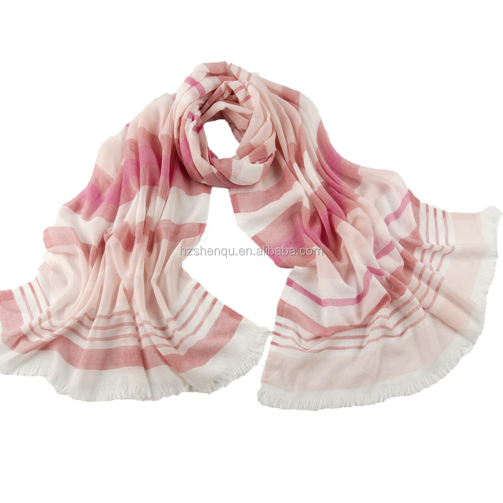 winter warm factory wholesale high quality stripes colorful pashmina scarf shawl wraps women