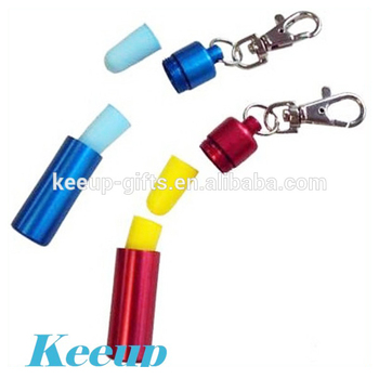 Noisy Environment Protect Foam Ear Plugs with metal carabiner keyring