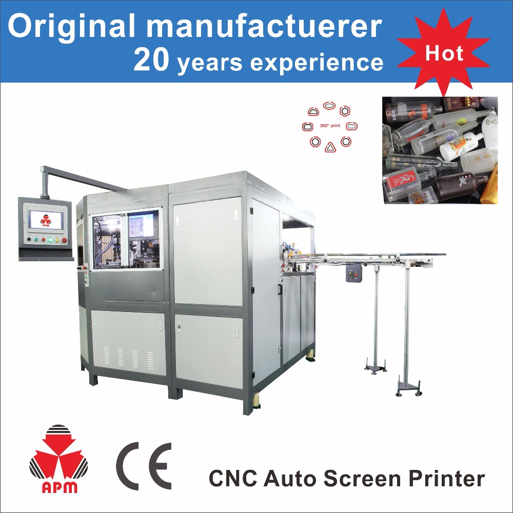 CNC323/8 3-8 colors universally all servo screen printer for different shape bottle and cap