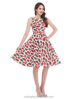825c4413bd30e Impresión floral 50 s 60 s vintage vestidos sin mangas 2016 vestido retro  del verano del