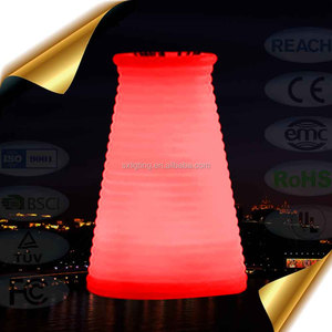 colorful Nightlight LED small table vase,Rechargeable decoration screw thread shape KTV bar lamp
