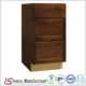 America Standard 4 Drawer RTA Kitchen Cabinets Solid Wood Door Direct From China