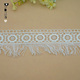 New style water-soluble fancy embroidery crochet lace with tassel trim for Dress