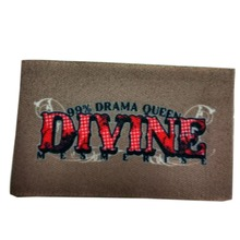 polyester clothing woven name tag with straight cut printed label