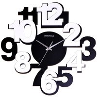 Decoration clock Simple style personality creative digital wooden wall clock living room bedroom home wall art wall clock