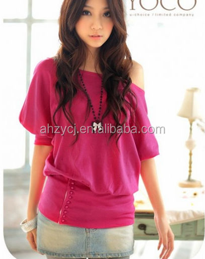 Latest New Design Women T Shirts Korean Fashion Summer Short Sleeve Las Blouse Tops View Blouses Zeyo Product Details