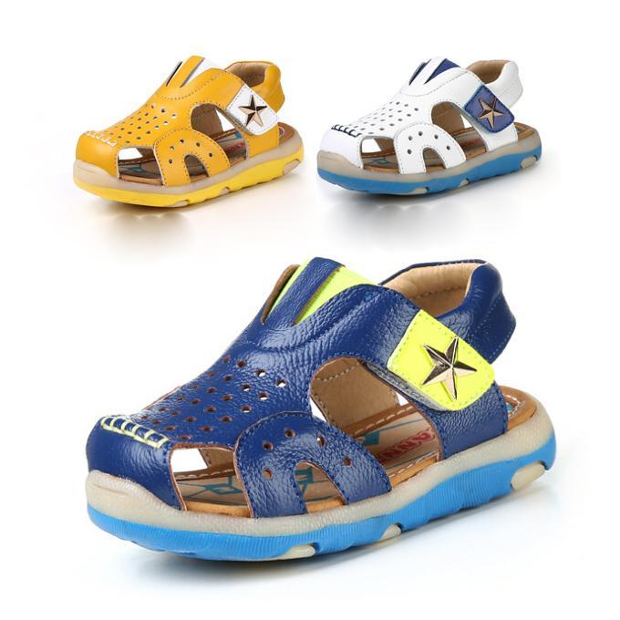 b224e053b Buy fashion style genuine leather children sandals boys sandals breathable  cut-outs kids sandals boys shoes free shipping in Cheap Price on  m.alibaba.com
