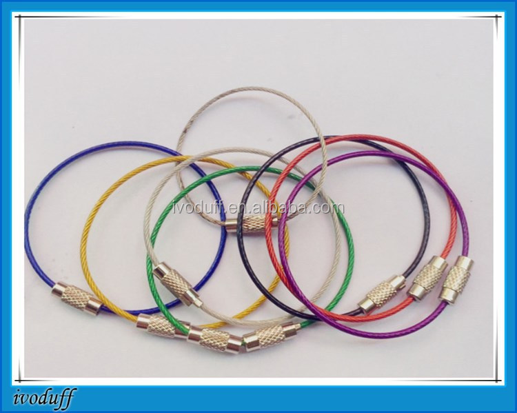 Hotsale Multi Colored Stainless Steel Wire Keyring/Metal Loop for luggage