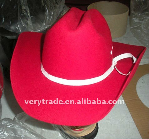 Cowboy / Cowgirl Felt Costume Kids Hats