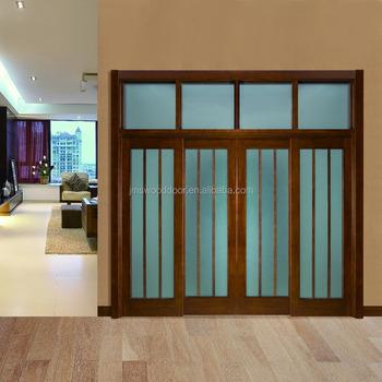 2016 New Design Sliding Solid Wood Door Products Modern Doors Wooden