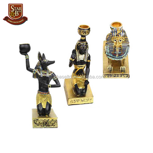 Resin ancient egyptian Sphinx / Anubis / Maidservant model classical home decoration candle holder