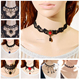 Two Wire/Multi-layer Black Choker Necklace