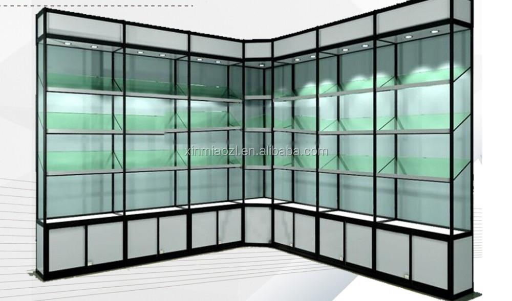 support de verre, Étagère pour vitrine, Étagère en verre en