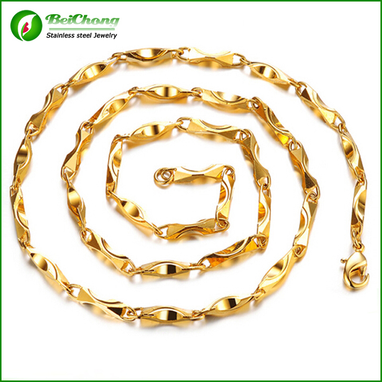 Cadena De Oro Stainless Steel Dubai New Gold Chain Design - Buy ...