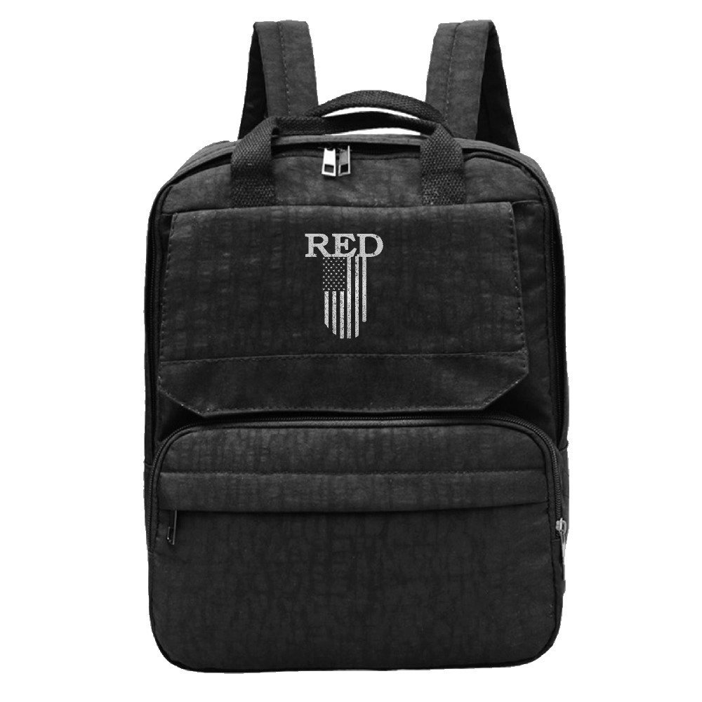 Women's Red Friday Vintage Usa Flag Travel College Backpacks