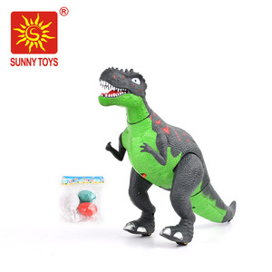 innovative products electric walking dinosaur toys set for laying eggs