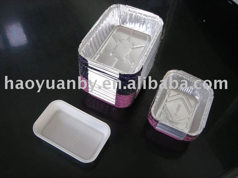 disposable aluminium foil food tin containers/tray