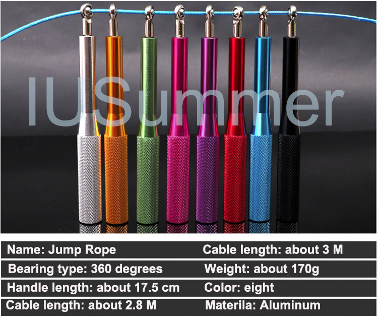 Adjustable Aluminum Speed Jump Rope With Custom Logo Private Label