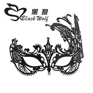 Black wolf new style accept OEM Good quality and good shape bondage of mask for Fancy dress graduation ceremony party cosply