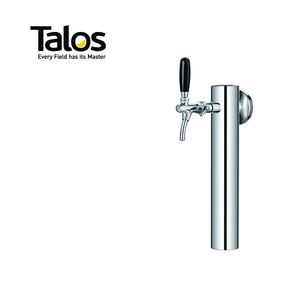 TALOS SS Column Tower 1-way Polished Tap Tower LED light Draft Beer Tower