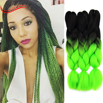 Super Jumbo Braiding Hair Extension Ombre Braids 2 Toned Synthetic For