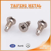 RoHS nickel plated steel cross recess step screw