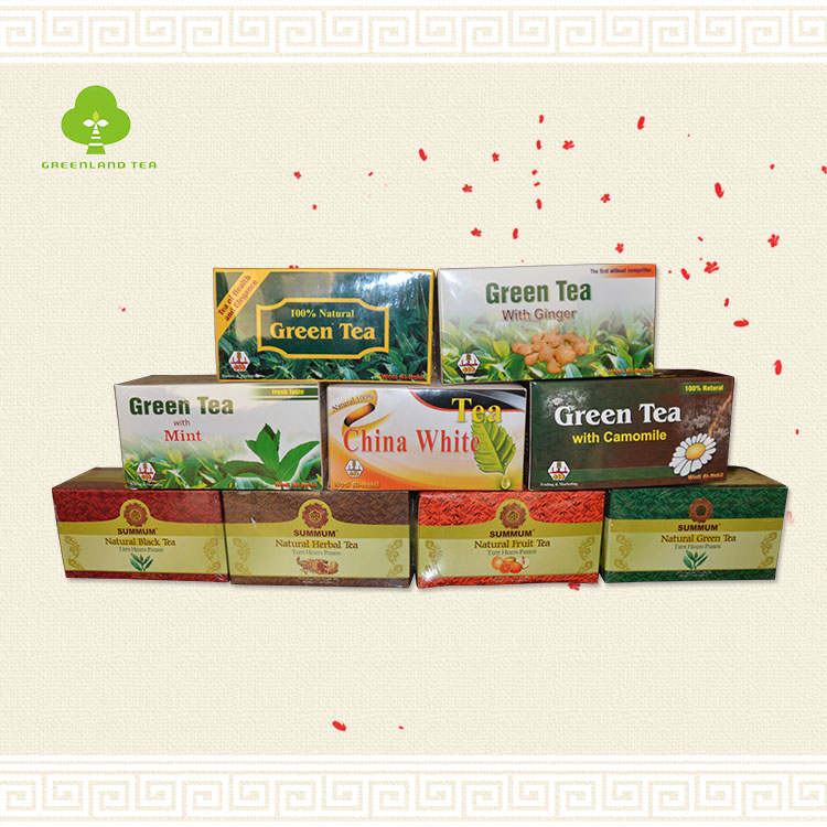 China green tea bag with mint/ginger/white tea - 4uTea | 4uTea.com