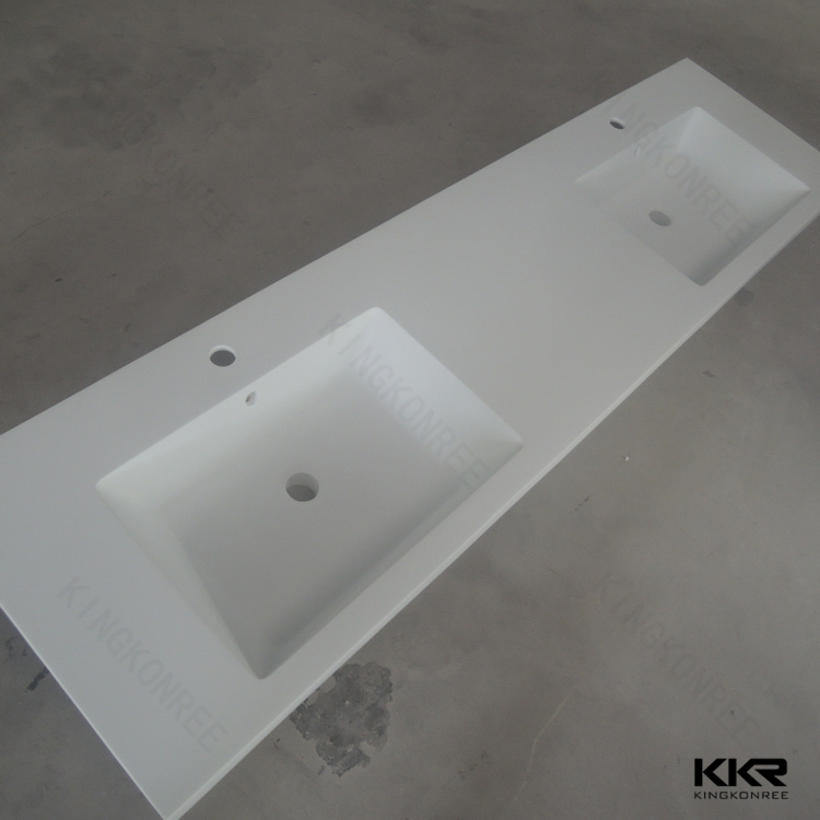 solid surface trough sink bathroom sinks with two faucets
