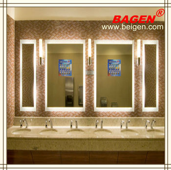 Hotel LED Backlit Bathroom Mirror Decorative Lighting 16 Years Supply For Hotels