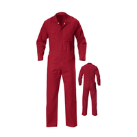 Cheap safety coveralls red orange work 100% cotton coveralls