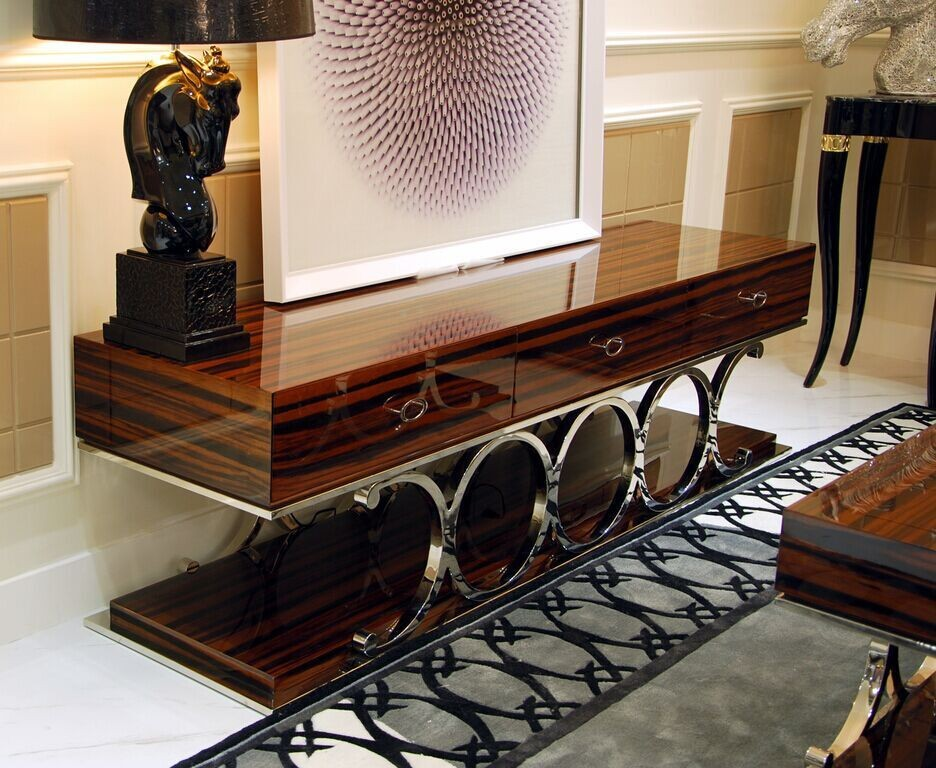 Luxury living room furniture TV Cabinet Coffee table