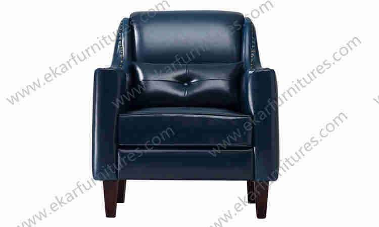 modern leather seater wood arm chairs sitting sofa single seat sofa