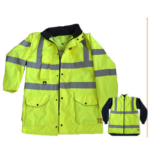 mens high visible yellow security work wear guard uniform