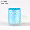 wholesale 200MLmatt/ transparent glass candleholder /electroplate/color spray/fancy glass candle holder./