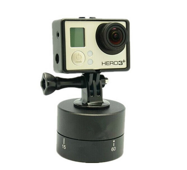 Gopros Time Lapse 360 Degrees 60min Panning , Go pro Time Lapse Stabilizer Tripod for GoPros/ Xiaoyi/ cameras.