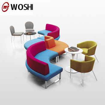 Modern Colorful Fabric Hotel Lunch Breakout Library Coffee Office Reception Sofa Commercial Use