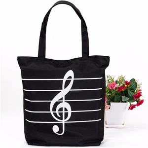 Customized Printed black Cotton Canvas Bag Handle Shopping Tote Cheap Student Backpack