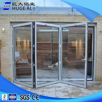 Lieblich Innen Bifold Tür Glas Falttür Gehärtetem Glas Schiebetüren Für Wohnzimmer